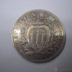 Monedas antiguas de Europa: REPUBLICA DE SAN MARINO, 2 LIRAS DE PLATA DE 1898 R.. Lote 53223375