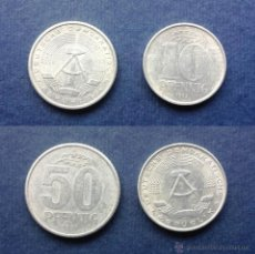 Monedas antiguas de Europa: LOTE DE 2 MONEDAS DE AMENANIA ANTIGUA REPÚBLICA DEMOCRÁTICA ALEMANA AÑOS 80. Lote 53245025