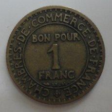 Monedas antiguas de Europa: 1 BON POUR. COMMERCE INDUSTRIE. Lote 53417429