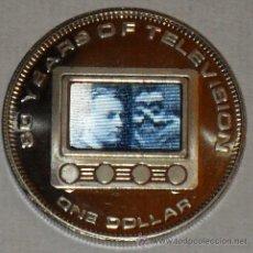 Monedas antiguas de Europa: MONEDA DE LAS MAS BUSCADAS POR COLECCIONISTAS 80 AÑOS TELEVISION UN DOLLAR. Lote 153808745