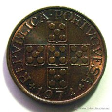 Monedas antiguas de Europa: MONEDAS DEL MUNDO . PORTUGAL . 1 ESCUDO 1974 . SIN CIRCULAR. Lote 53825017