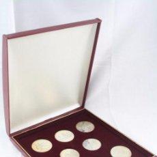 Monedas antiguas de Europa: ESTUCHE DE 8 MONEDAS PLATA PRINCIPAT D'ANDORRA - OLIMPIADA BARCELONA 1992 / 92 - VEGUERIA ESPISCOPAL. Lote 53859715