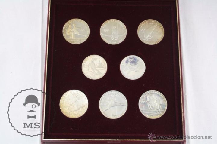 Monedas antiguas de Europa: Estuche de 8 Monedas Plata Principat d'Andorra - Olimpiada Barcelona 1992 / 92 - Vegueria Espiscopal - Foto 4 - 53859715
