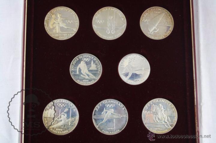 Monedas antiguas de Europa: Estuche de 8 Monedas Plata Principat d'Andorra - Olimpiada Barcelona 1992 / 92 - Vegueria Espiscopal - Foto 5 - 53859715