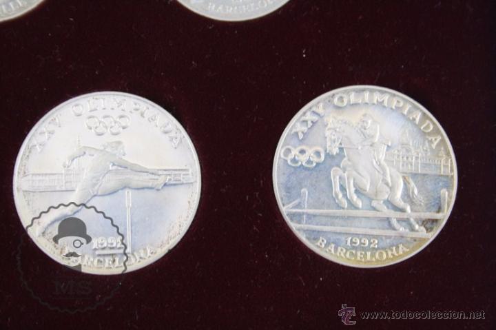 Monedas antiguas de Europa: Estuche de 8 Monedas Plata Principat d'Andorra - Olimpiada Barcelona 1992 / 92 - Vegueria Espiscopal - Foto 7 - 53859715