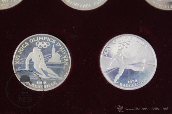 Monedas antiguas de Europa: Estuche de 8 Monedas Plata Principat d'Andorra - Olimpiada Barcelona 1992 / 92 - Vegueria Espiscopal - Foto 8 - 53859715