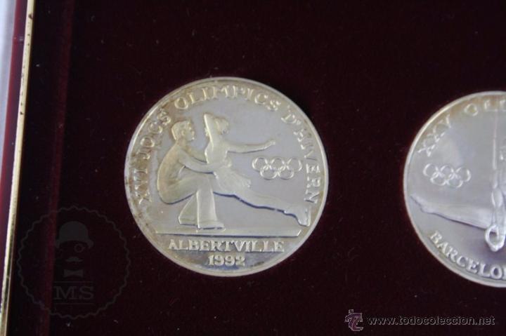 Monedas antiguas de Europa: Estuche de 8 Monedas Plata Principat d'Andorra - Olimpiada Barcelona 1992 / 92 - Vegueria Espiscopal - Foto 10 - 53859715