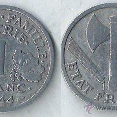 Monedas antiguas de Europa: FRANCIA - 1 FRANC - 1944 - KM# 902. Lote 53974062