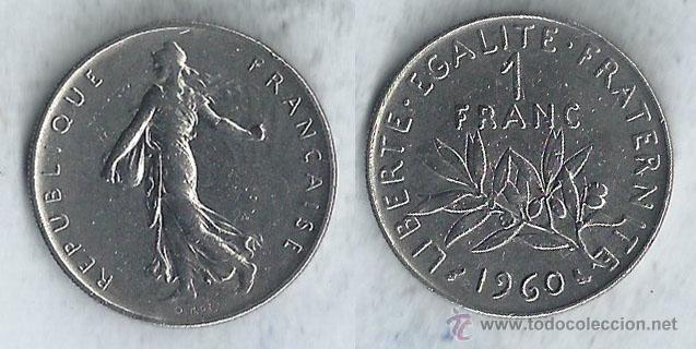 FRANCIA - 1 FRANC - 1960 (Numismática - Extranjeras - Europa)