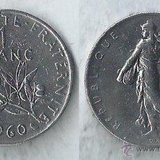 Monedas antiguas de Europa: FRANCIA - 1 FRANC 1960 - KM# 925.1. Lote 54305817