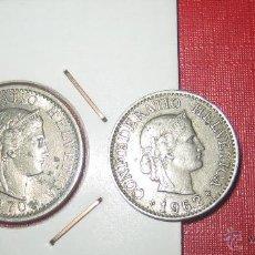 Monedas antiguas de Europa: LOTE MONEDAS DE SUIZA. 3 MONEDAS SUIZA. Lote 54362495