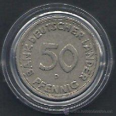 Monedas antiguas de Europa: ALEMANIA - 50 PFENNIG 1949 D - MBC - CAT.Nº.102 - BANK DEUTSCHER LAENDER - EN CAPSULA DE LAS MONEDA. Lote 54590337