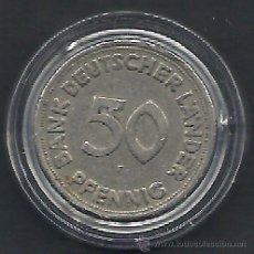 Monedas antiguas de Europa: ALEMANIA - 50 PFENNIG 1949 F - MBC - CAT.Nº.102 - BANK DEUTSCHER LAENDER - EN CAPSULA DE LAS MONEDAS. Lote 54590589