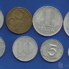 Monedas antiguas de Europa: ALEMANIA REP. DEMOCRATICA (ALEMANIA ORIENTAL) LOTE 8 MONEDAS DIFERENTES. Lote 54702055