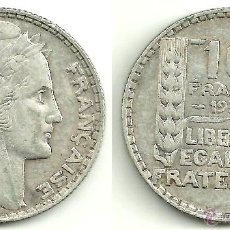 Monedas antiguas de Europa: FRANCS 10 FRANCS 1932 (PLATA). Lote 54737067