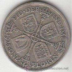 Monedas antiguas de Europa: GRAN BRETAÑA. 1928 1 FLORIN DE PLATA DE JORGE V. BC... Lote 54785898