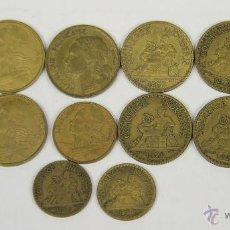 Monedas antiguas de Europa: MO-189 - COLECCIÓN DE 14 MONEDAS EN ALUMINIO-COBRE(VER DESCRIP). 3ª R. FRANCESA. 1921-1967.. Lote 51124340