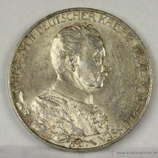 Monedas antiguas de Europa: MO-014. MONEDA DE PLATA. WILHELM II. DEUTSCHER KAISER VON PREUSSEN. 1913. TRES MARCOS.. Lote 50321146