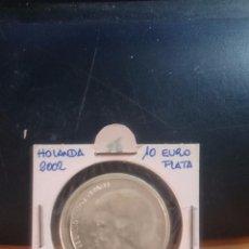 Monedas antiguas de Europa: HOLANDA MONEDA DE PLATA 10 EUROS AÑO 2002. Lote 54934139