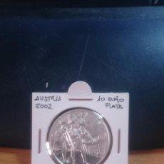 Monedas antiguas de Europa: MONEDA PLATA AUSTRIA AÑO 2002 10 EUROS. Lote 54934568