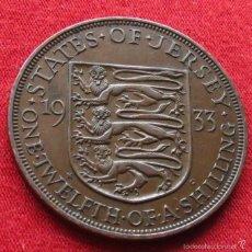 Monedas antiguas de Europa: JERSEY 1/12 SHILLING 1933 KM# 16. Lote 55383526