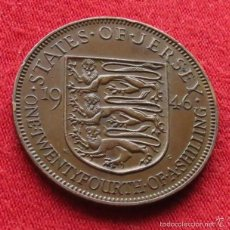Monedas antiguas de Europa: JERSEY 1/24 SHILLING 1946 KM# 17. Lote 55383724