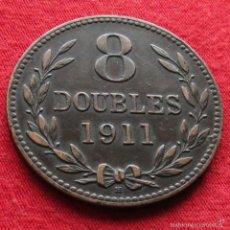 Monedas antiguas de Europa: GUERNSEY 8 DOUBLES 1911 KM# 7. Lote 55553259