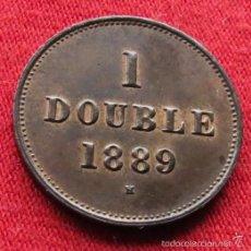 Monedas antiguas de Europa: GUERNSEY 1 DOUBLE 1889 KM# 10. Lote 55553665