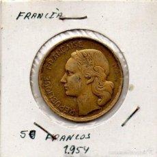Monedas antiguas de Europa: FRANCIA 50 FRANCOS 1954. TAL COMO SE VE EN LA IMAGEN. Lote 55690445
