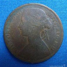 Monedas antiguas de Europa: HALF PENNY 1861. Lote 55900516