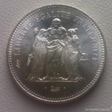 Monedas antiguas de Europa: FRANCIA 50 FRANCOS 1976 DE PLATA. Lote 56669887