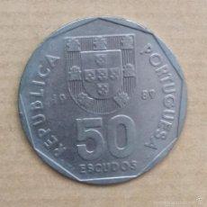 Monedas antiguas de Europa: 50 ESCUDOS PORTUGAL 1989. Lote 56696288