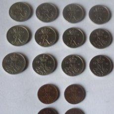 Monedas antiguas de Europa: LOTE DE 17 MONEDAS DE DINAMARCA. DE 10 Y 5 ORE. Lote 57107674