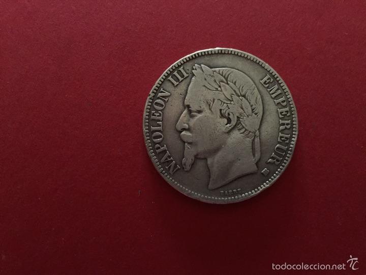 5 FRANCOS DE PLATA FRANCESA DE NAPOLEÓN III 1868 (Numismática - Extranjeras - Europa)