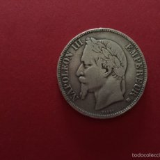 Monedas antiguas de Europa: 5 FRANCOS DE PLATA FRANCESA DE NAPOLEÓN III 1868. Lote 57109849