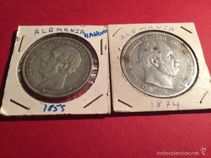 2 MONEDAS ALEMANAS DE PLATA DE 1855 Y 1974 (Numismática - Extranjeras - Europa)