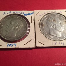 Monedas antiguas de Europa: 2 MONEDAS ALEMANAS DE PLATA DE 1855 Y 1974. Lote 57111572