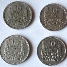 Monedas antiguas de Europa: LOTE DE CUATRO MONEDAS DE 10 FRANCOS FRANCESES. AÑOS CORRELATIVOS. Lote 57164790