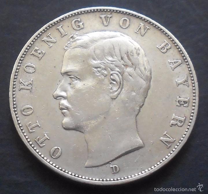 alemania - baviera 3 marcos 1911-d otón i de ba - Comprar Monedas ...