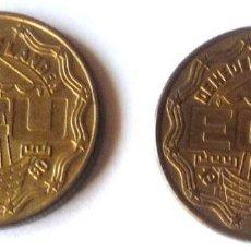 Monedas antiguas de Europa: DOS MONEDAS DIFERENTES DE 1 ECU DE 1990 DE LOS PAISES BAJOS. Lote 57336571