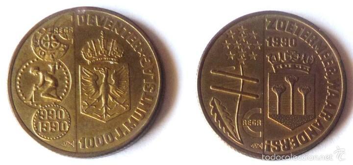 Monedas antiguas de Europa: DOS MONEDAS DIFERENTES DE 1 ECU DE HOLANDA DE 1990 - Foto 2 - 57336571