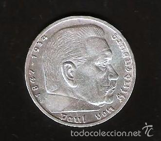 Alemania Imperio 5 Reichsmark Plata 1939 Paul V Comprar Monedas