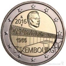 Monedas antiguas de Europa: LUXEMBURGO 2 EURO 2016 S/C PUENTE DUQUESA CAROLA . Lote 57438616