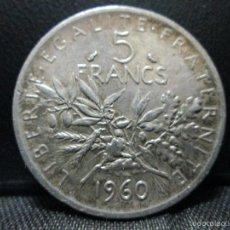 Monedas antiguas de Europa: 5 FRANCOS 1960 FRANCIA PLATA. Lote 57530980