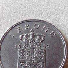 Monedas antiguas de Europa: MONEDA DINAMARCA 1 KRONE CORONA 1963.EBC. Lote 57807454