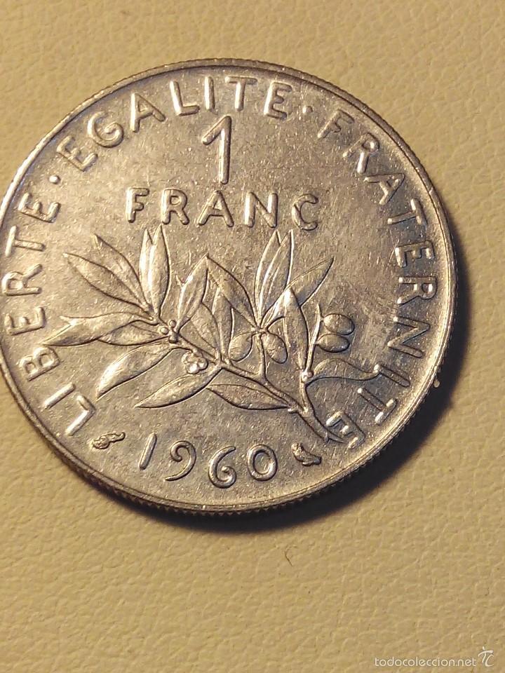 MONEDA FRANCIA 1 FRANC 1960.MBC (Numismática - Extranjeras - Europa)