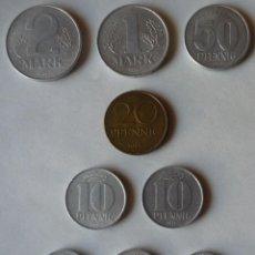 Monedas antiguas de Europa: LOTE DE NUEVE MONEDAS DE LA REPUBLICA DEMOCRATICA DE ALEMANIA. Lote 57986181