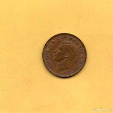 Monedas antiguas de Europa: MONEDA UN FARTHING AÑO 1943 PAJARO REYEZUELO JORGE GEORGIVS VI REINO UNIDO GRAN BRETAÑA INGLATERRA. Lote 58279217