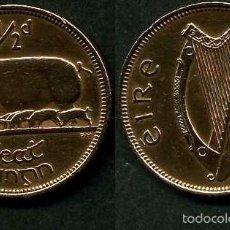 Monedas antiguas de Europa: IRLANDA 1/2 PENNY AÑO 1964 ( CERDA CON SUS CERDITOS Y POR EL REVERSO UN ARPA ) Nº1. Lote 58353857