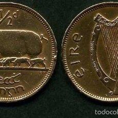 Monedas antiguas de Europa: IRLANDA 1/2 PENNY AÑO 1964 ( CERDA CON SUS CERDITOS Y POR EL REVERSO UN ARPA ) Nº12. Lote 58354035